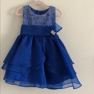 Other - Toddler Girl Royal Blue Holiday Or Party Dress